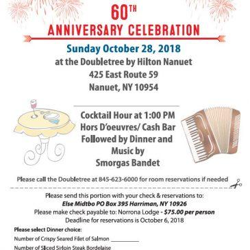 Norrona Lodge 60th Anniversary